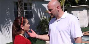 Brooke Haze gets fuck by her neighbors big hard cock