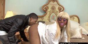 Slutty ebony Kakey wants to taste that steaming cum