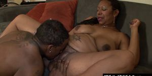 Hot babe Xoticia loves showing her hairy pussy and gaggin