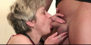Horny old grandmother loves it from both sides