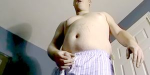 Fat amateur masturbates and gets sucked by black mature gay