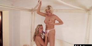 Sandra and Bianca use a sex toy