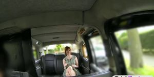 Busty redhead passenger sucks off and railed in public Porn Videos