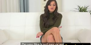 Euro amateur creampied by agent at audition
