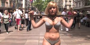 Spanish slave walked naked in the street