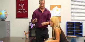 Big tits blonde  teen Holly Taylor fucks prof