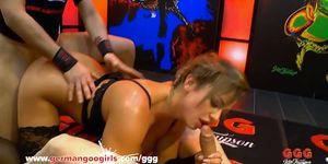 Chloe Lamoure gets her Big tits covered with cum - German Goo Girls