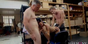 Milf Anal Threesome at the office