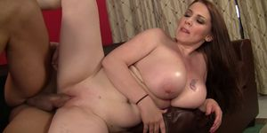 Busty Girl Massages Client With Big Natural Boobs