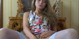 European Beauty Satisfies Herself With Her Dildo
