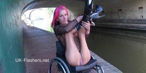 Wheelchair babe leah caprice public nude