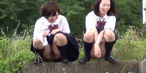 Bizarre japanese teens urinating