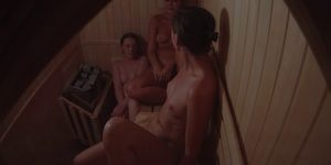 Cam Catches 3 Girls in Sauna