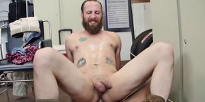 Interracial anal sex with Kansas dude and black dick boss