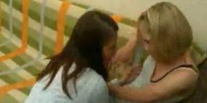 Lesbian abuses girl