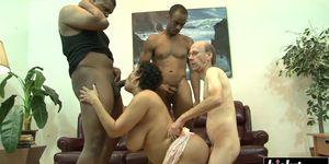 Kira enjoys a couple of horny guys