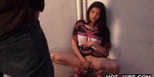 Voyeur Watching Hot Asian Chick SQUIRTING