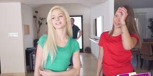 Liza Rowe love fucking elsas dad in her bedroom Porn Videos