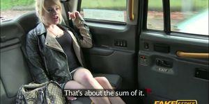 Skinny Blonde hottie gets fucked hardcore inside a taxi