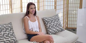 CastingCouch X Newcomer Paisley Rae fucked with juicy creampie