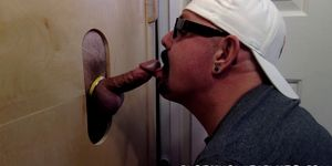 He really loves blowing that glory hole tool like a pro
