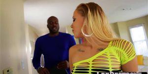 Sexy babe Hollie Mack enjoys a steamy interracial sex