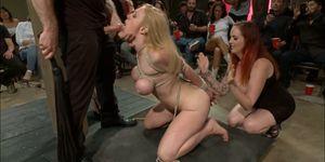 Busty Dee Williams anal fucked in public
