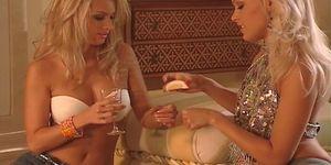 Super hot blond lesbian babes fingering