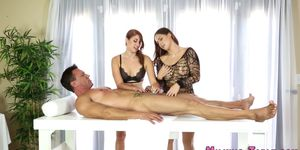 Sex Therapists in Three Way Suck and Tug