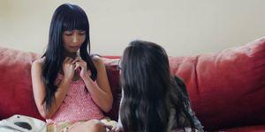 Asian dyke tribbing with spex lesbian Porn Videos