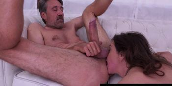 She is horny from deepthroat and rimming
