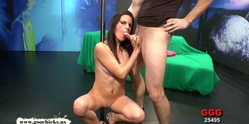 Beautiful skinny babe takes it up the ass - German Goo Girls