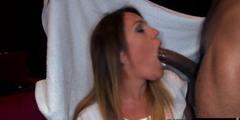 Hungry partying cfnm babes eating dick