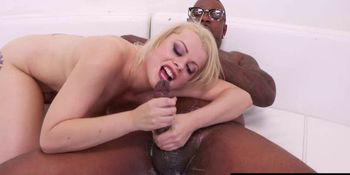 Slut throats and worships BBC