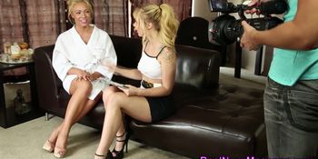 Blonde masseuses cummed