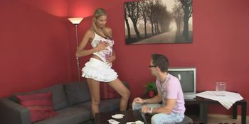 Hottie gives him her cheating body
