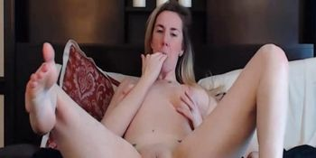 Hot Blonde Stripping Down And Exposes Pussy