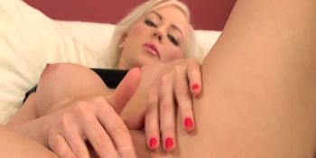 Blonde Babe Victoria Masturbates 1