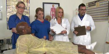 Nurse milfs sharing hard dicks in group CFNM