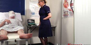 Nurse femdomina watching