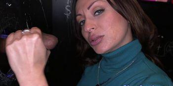 Milf Vanessa Lunas interracial gloryhole