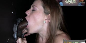 Gorgeous gloryhole beauty gets drilled