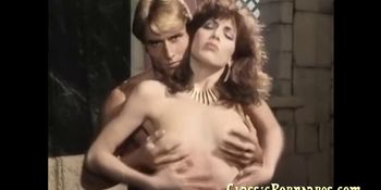 Sexy lady fucks hard in retro porn