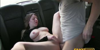 Sam a very horny passenger without panties gets fucked