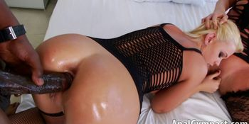 Anal and Pussy Black n White Fuck with Ava Devine, Roxy Raye, Lexington Steele
