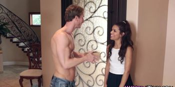Tiny teen spunk drenched