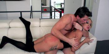 Hot blonde Amy Brooke in a kinky wild hardcore sex