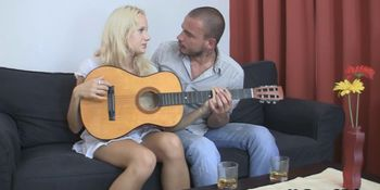 He doggy styled lovely czech blonde as her BF left
