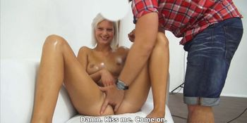 Beautiful shy amateur let stranger to massage her body