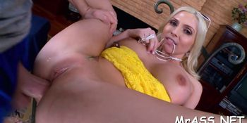 Sinful Blonde Christie Stevens Cums Many Times